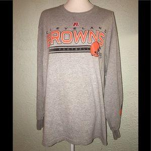 NFL CLEVELAND BROWNS Sz XL Long Sleeve T-Shirt